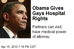 Obama Gives Gays Hospital Rights