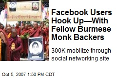 Facebook Users Hook Up—With Fellow Burmese Monk Backers