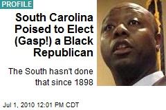 South Carolina Poised to Elect (Gasp!) a Black Republican