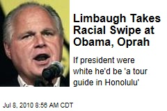 Limbaugh Takes Racial Swipe at Obama, Oprah