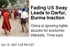 Fading US Sway Leads to Darfur, Burma Inaction