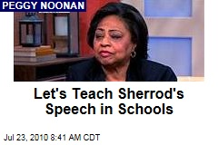 Let's Teach Sherrod's Speech in Schools
