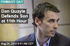 Dan Quayle Defends Son at 11th Hour